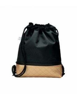 Plecak Worek dla najmłodszych Czarny ze złotym