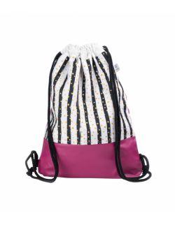 Plecak worek dla młodzieży Różowa zebra