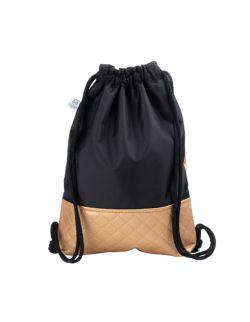 Plecak worek dla młodzieży Czarny ze złotem
