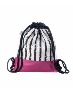 Plecak Worek dla najmłodszych Różowa Zebra2