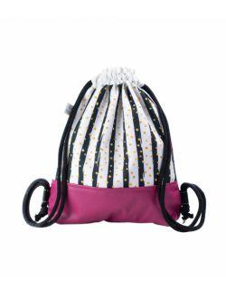 Plecak Worek dla najmłodszych Różowa Zebra