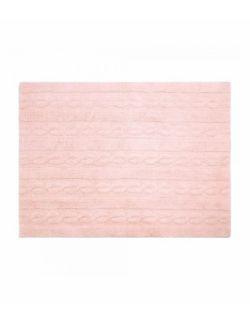Dywan Bawełniany Trenzas Różowy 80x120 cm Lorena Canals
