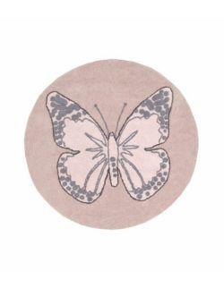 Dywan Bawełniany Butterfly Nude Ø160 cm Lorena Canals