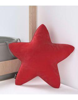 Poduszka Lucky Star Velvet Intensywna Czerwień