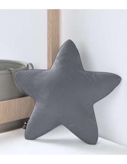 Poduszka Lucky Star Velvet Grafitowy Szary