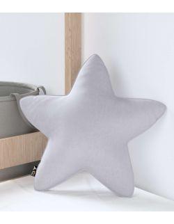 Poduszka Lucky Star Velvet Srebrzysty Szary