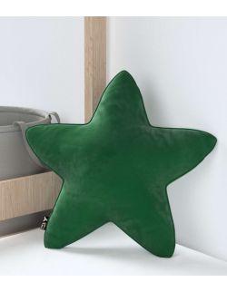 Poduszka Lucky Star Velvet Butelkowa Zieleń