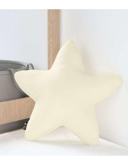 Poduszka Lucky Star Velvet Śmietankowa Biel