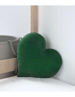 Poduszka Heart of Love Velvet Butelkowa Zieleń