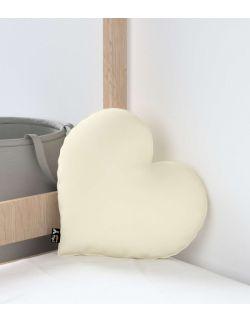 Poduszka Heart of Love Velvet Śmietankowa Biel