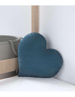 Poduszka Heart of Love Velvet Pruski Błękit