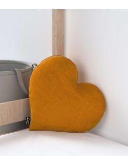 Poduszka Heart of Love Velvet Miodowa
