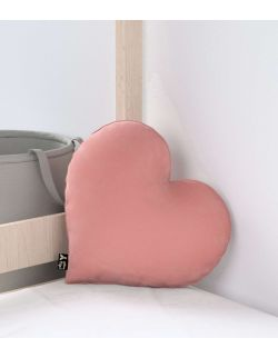 Poduszka Heart of Love Velvet Zgaszony Koral