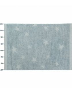 Dywan Bawełniany Hippy Stars Aqua Blue 120x175 cm Lorena Canals