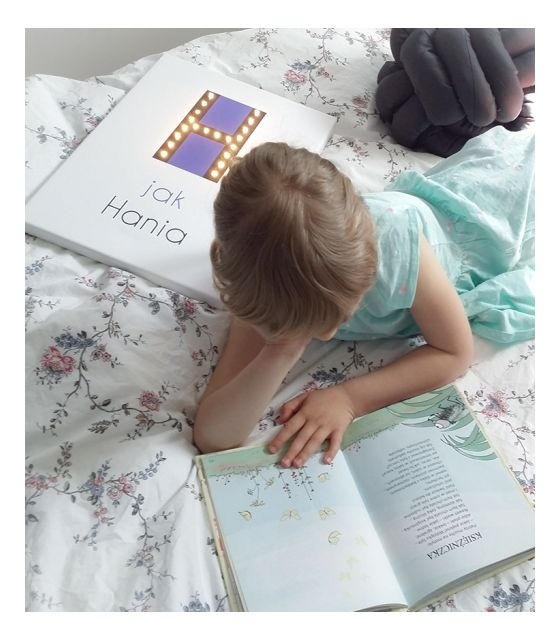 ŚWIECĄCA LITERA H z imieniem prezent lampka obraz dla dziecka