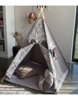 Safari – tipi, namiot dla dzieci z matą podłogową