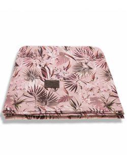 Bambusowy Jungle Powder Pink - 3 w 1 chusta, otulacz i kocyk