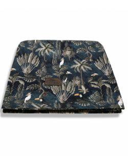 Bambusowy Jungle Dark Blue - 3 w 1 chusta, otulacz i kocyk