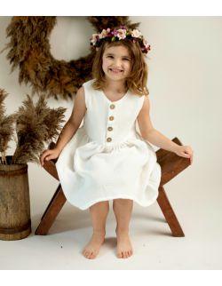 Sukienka muślinowa GAJA biała (+5 innych kolorów)