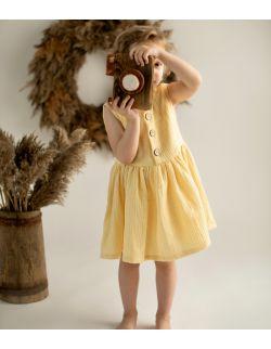 Sukienka muślinowa GAJA żółta (+5 innych kolorów)