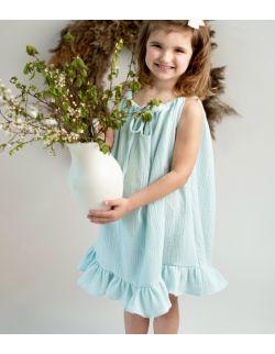 Sukienka ALA muślinowa niebieska (+ 5 kolorów)