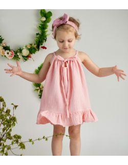 Sukienka ALA muślinowa róż (+ 5 kolorów)