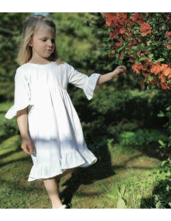 Sukienka Biała Nel