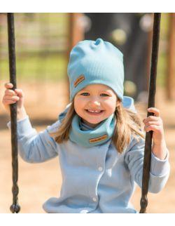 Dziecięca czapka i komin wiosenno jesienna błękit