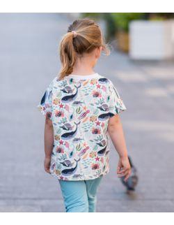 Koszulka dziecięca- wzór wodny świat/rybki.