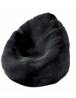 Worek do siedzenia Bowli Velvet Głęboka Czerń