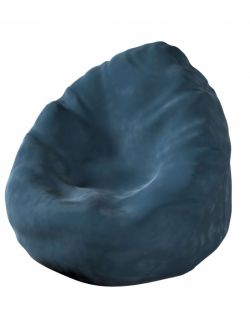 Worek do siedzenia Bowli Velvet Pruski Błękit