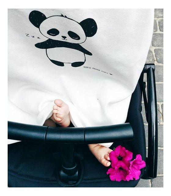Osłonka do wózka na słońce i wiatr PANDA BLACK & WHITE
