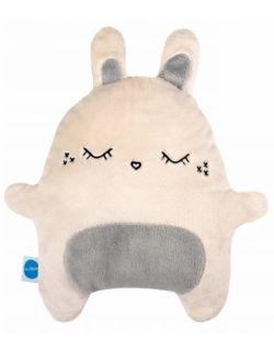 Szeptuś szumiący miś królik chrupek biało/szary
