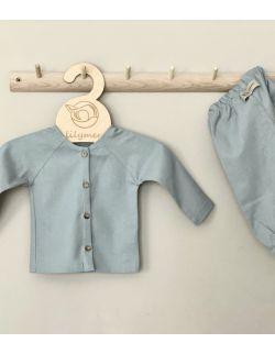 Lniana bluzeczka z długim rękawem