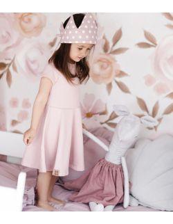 Sukienka dla dziewczynki wiosna/lato-kwarcowy róż