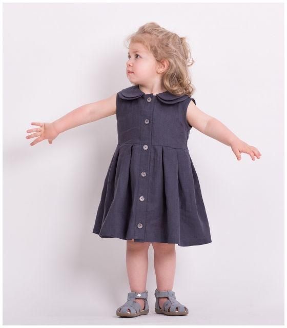 Sukienka dla córki GREY LINEN