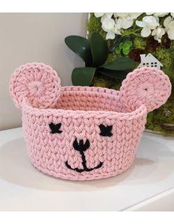 Koszyk Miś różowy