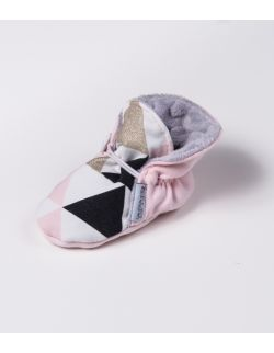 Miękkie buciki dla dziewczynki Gold