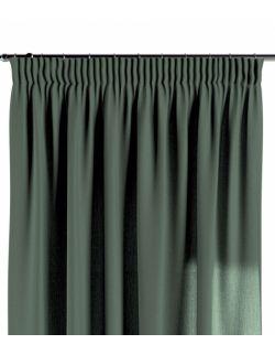 Zasłona na taśmie zgaszony zielony 130×260 1 szt