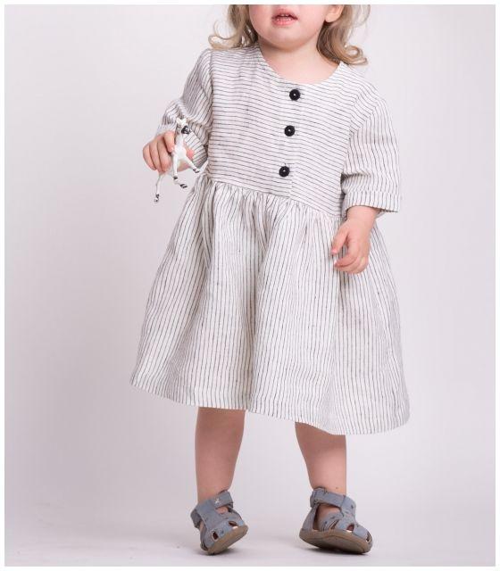 Sukienka dla córki STRIPED LINEN