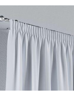 Zasłona na taśmie szaro biały 140×260 1 szt