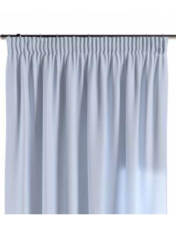 Zasłona na taśmie pastelowy niebieski 130×260 1 szt