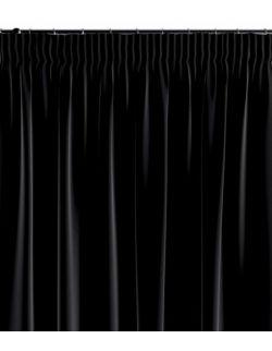 Zasłona na taśmie czarny 130×260 1 szt