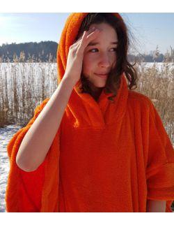 Szlafrok / poncho , wiek: 13+ , ( pomarańczowy jednolityHug SIS)