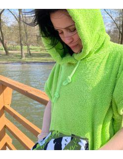Szlafrok/ poncho, wiek 13+, (zielony liść iHug SIS)