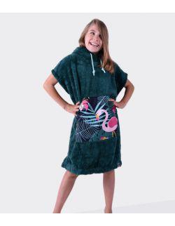 Szlafrok / poncho, wiek: 7-12 lat ( zielony flaming Youth Hug)