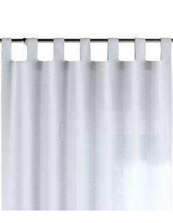 Zasłona na szelkach Prześwitująca Biała 130x260cm