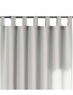 Zasłona na szelkach ciepły biały 130x260cm