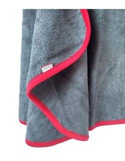 Bambusowy ręcznik z kapturkiem - GREY&RED