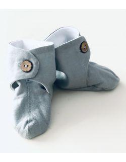 Lniane buciki niemowlęce